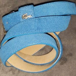 LACOSTE Suede Leather-Lined Belt